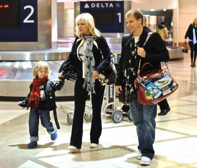 Brian Littrell and Family arrives into LAX Airport