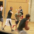 Nick and Brian playing Basket Ball - Cologne, Germany20090904