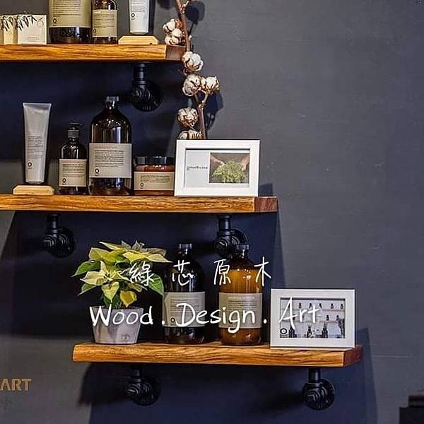 新竹髮廊原木桌椅原木展示板架3.jpg