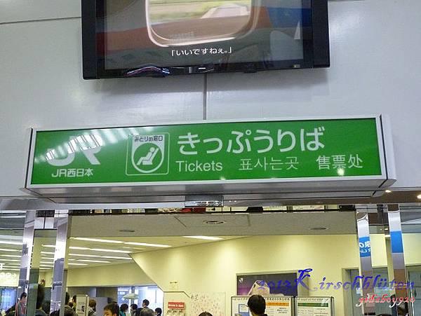 JR綠色櫃台