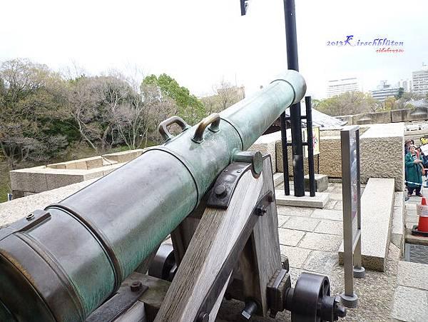 大阪城天守閣砲台