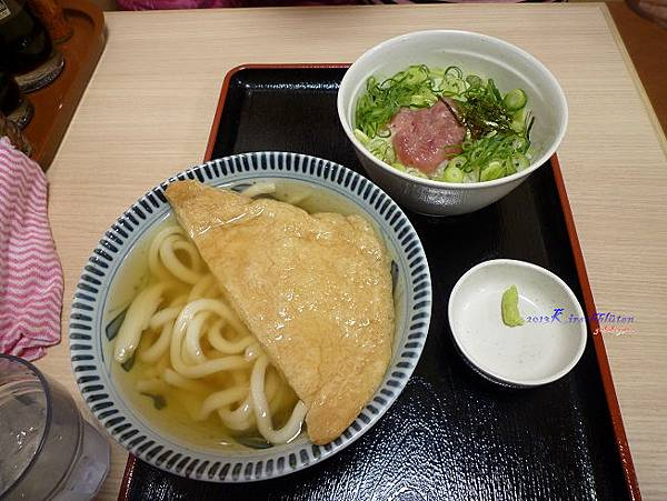 豆皮烏龍麵與章魚mini丼