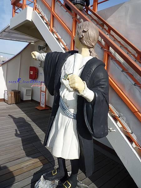 観光船サンタマリア上的哥倫布