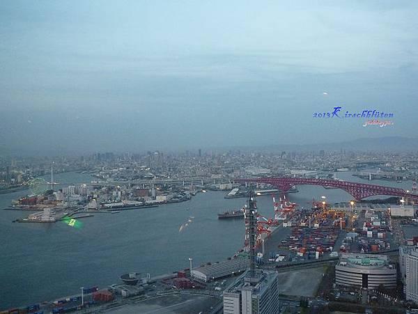 大阪府咲洲庁舎展望台看大阪市景