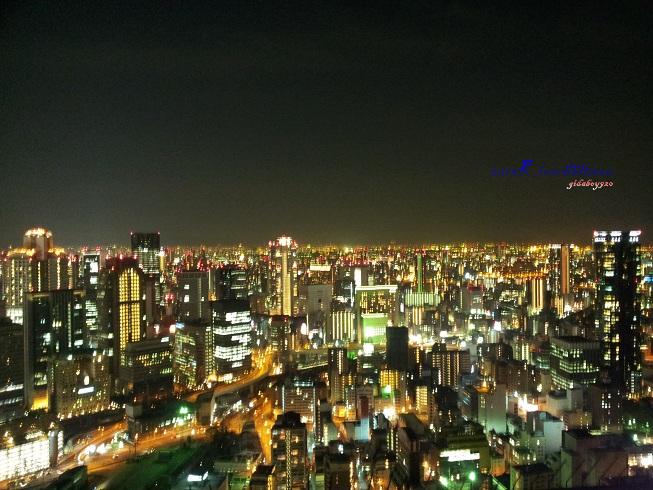 空中庭園展望台看大阪市夜景