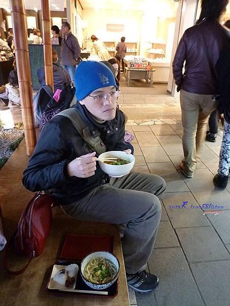 嵐電嵐山駅前吃烏龍麵