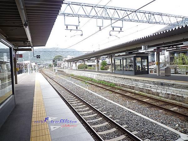 JR嵯峨嵐山駅月台上