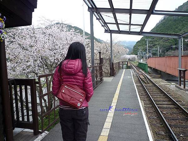 トロッコ龜岡駅月台上