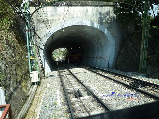 男山ケーブル會車隧道