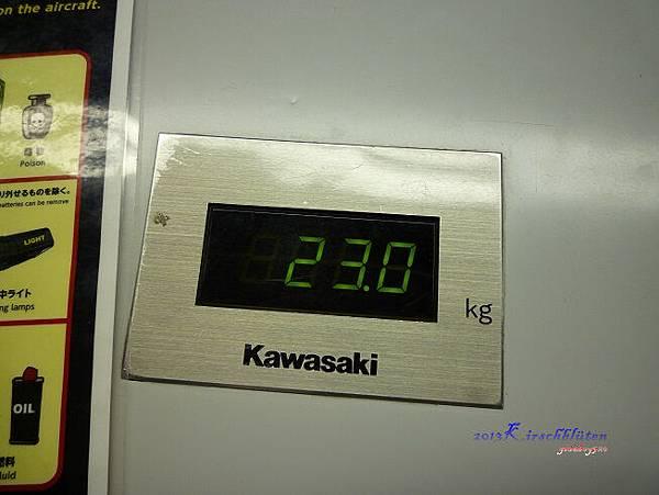 28吋行李箱重量剛好23公斤