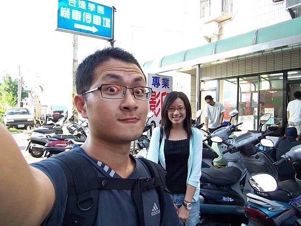 放假了,小內去漢翔門口等我:)
