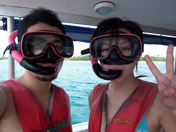 要下海浮潛囉