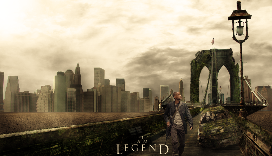 MattePainting___I_Am_Legend_by_Sidoneon