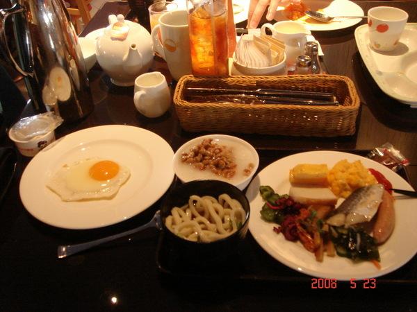 飯店的豪華早餐