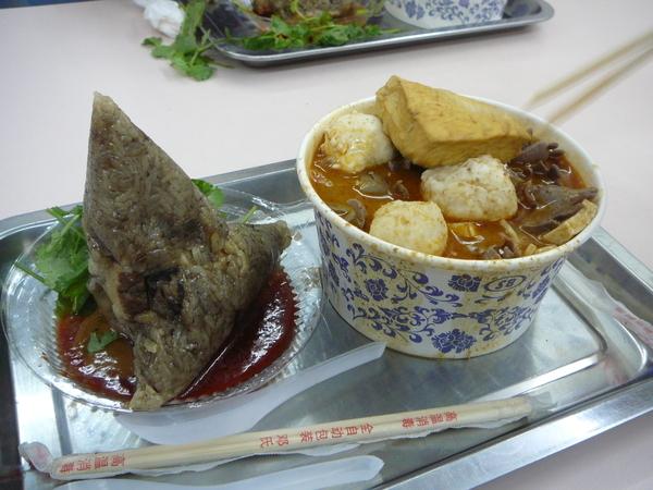 廈門小吃 肉粽 沙茶麵