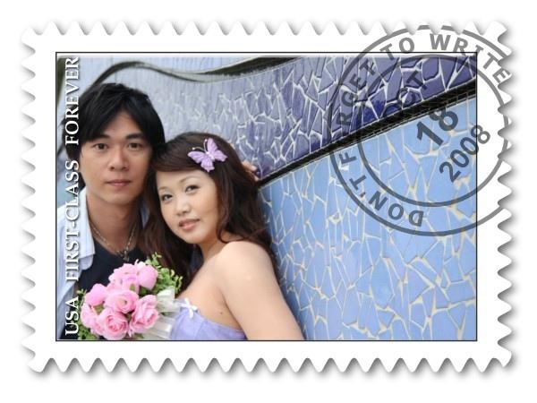 甜蜜的郵票