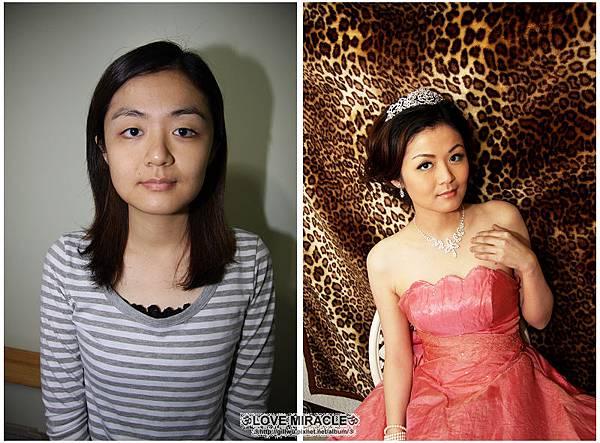 一早就被GG拖去南港化妝,一臉就是愛睏樣,變身後的彭A,是不是很不一樣呀?????
