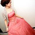 粉紅公主禮服,真的很漂亮哦!!現場看是不怎樣,拍起來,真素美呀~~