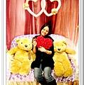 再來張吳GG,這二隻可愛的熊熊都是餐廳會場提供的哦,真的是很貼心哩~