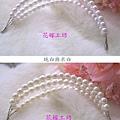 多層次珍珠髮箍花環頭飾~可當小皇冠。典雅實用~包頭髮髻-米白.jpg