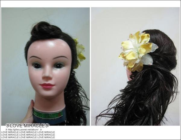 造型2-適時運用假髮,不僅省時、省力,又可以替造型加分。