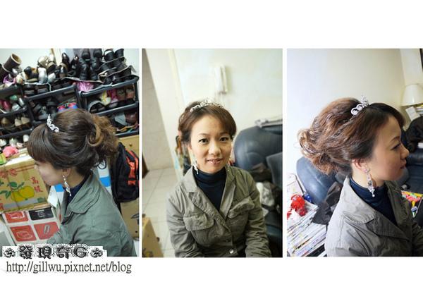 雖然靜君的髮長並不長,髮量也並不多,但GG還是用了靜君的頭髮做了造型,應該完全看不出來靜君的少髮量吧~!!!