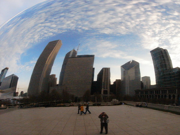 the Cloud Gate Sculpture
