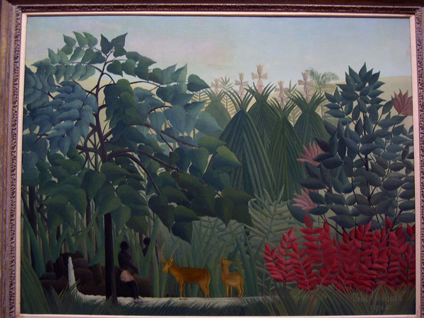 The Waterfall,盧梭(Henri Rousseau)