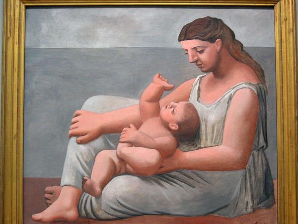 畢卡索《母與子》