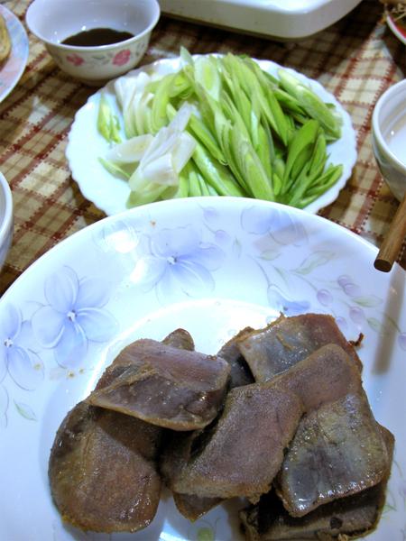 Roast Mullet Roe with garlic leaves