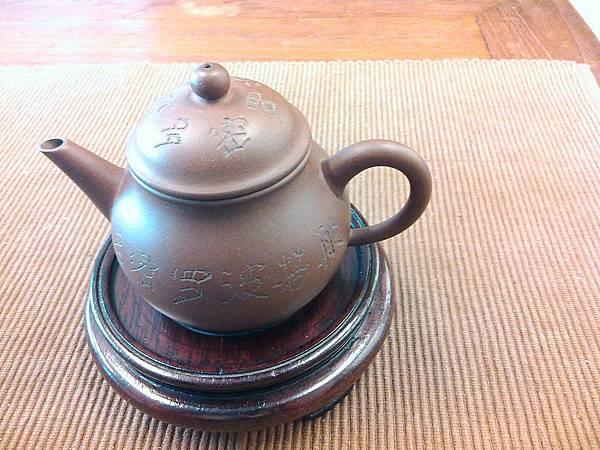 .80年代綠標紫泥8杯線瓢壺-2