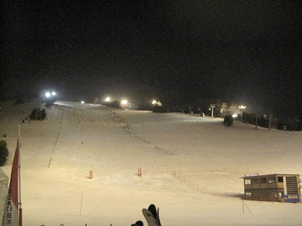 高階滑雪跑道,房間窗外拍到的美景