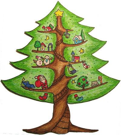聖誕樹卡片