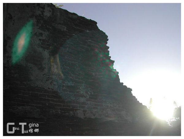 安平古堡臺灣城殘蹟夕陽