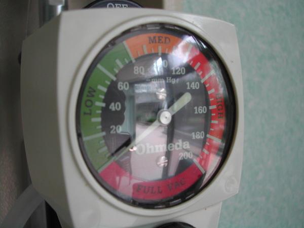 抽痰設備之錶