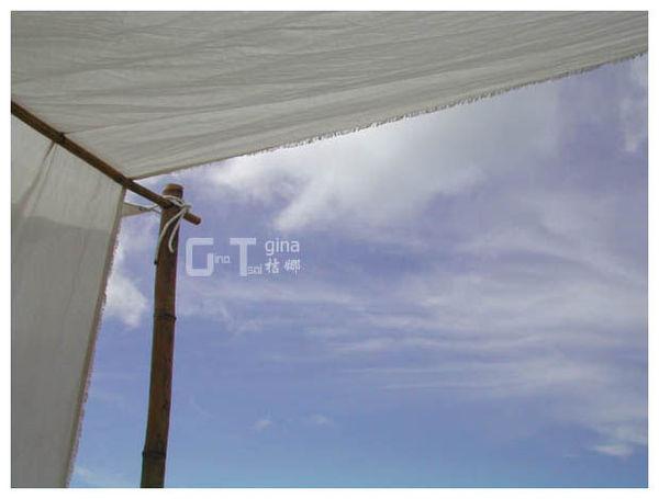 三芝白沙灣白布棚天空