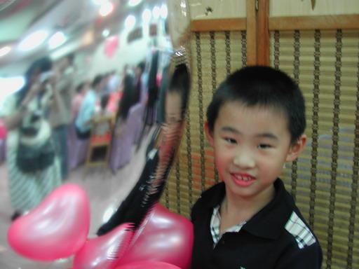 Lawrance跟心形氣球