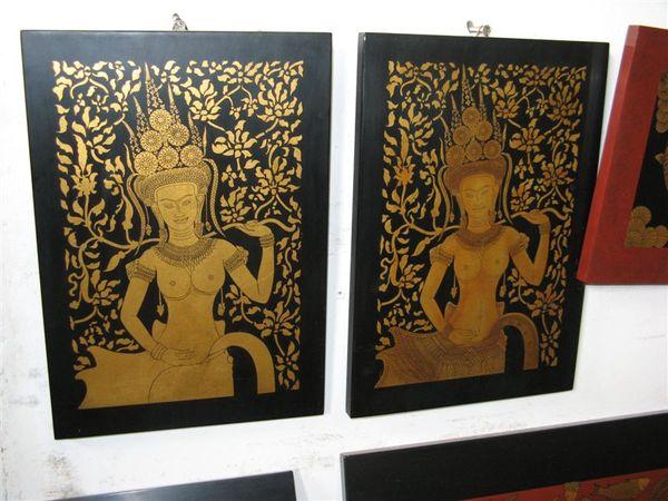吳哥藝術學校展示的作品