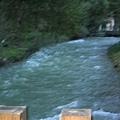 九寨溝遊客中心 前的流水