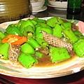 新鮮菜─魚皮炒青椒