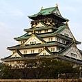 很雄偉的大阪城,有魄力。