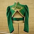 "Emerald-green felt ""Ozmite"" jacket designed by Adrian from The Wizard of Oz 22,500 USD"