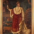 Monumental oil painting of Marlon Brando as Napoleon, Emperor of France, for Desirée publi sold for 4,500.00USD