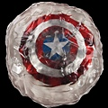 Hero Captain America shield encased in ice resin with conceptproduction artwork 20,000.00USD