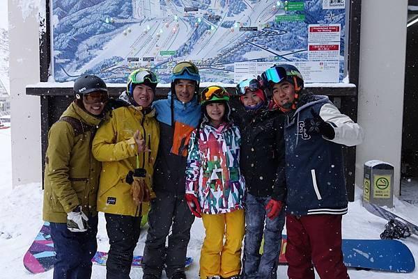 桃子姊,李仁哥 白馬滑雪