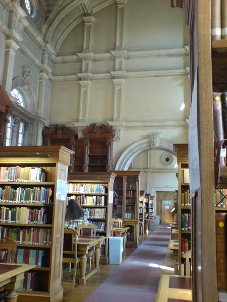 城堡裡面的圖書館