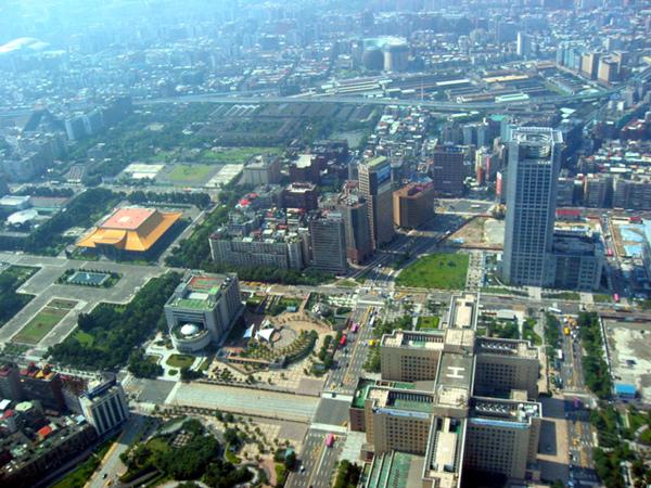 台北地區鳥瞰