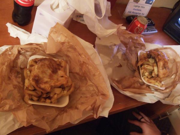 在愛丁堡的第一餐