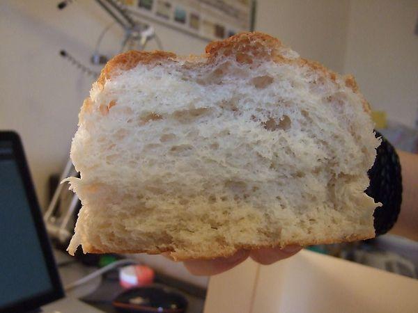 麵包剝開之後的樣子