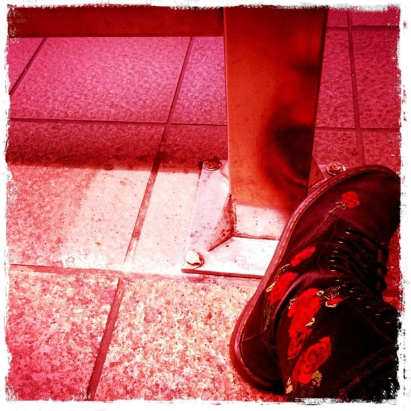 20110209 Taipei, my boot (red)